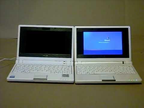 Asus eee PC 2G Linux  vs. Asus eee PC 4G Win XP