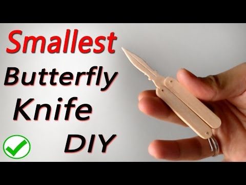 Small Popsicle Butterfly knife DIY tutorial