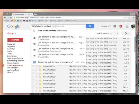 Show Unread Gmail Messages
