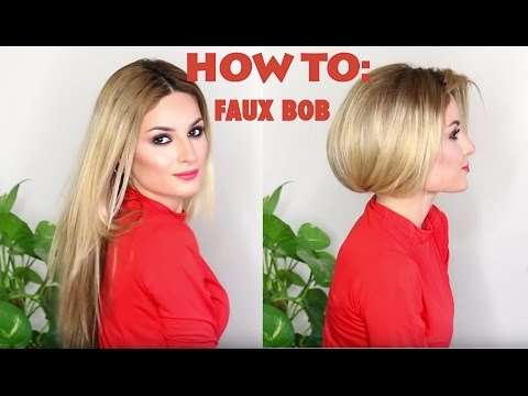 How to fake short hair (faux bob)!