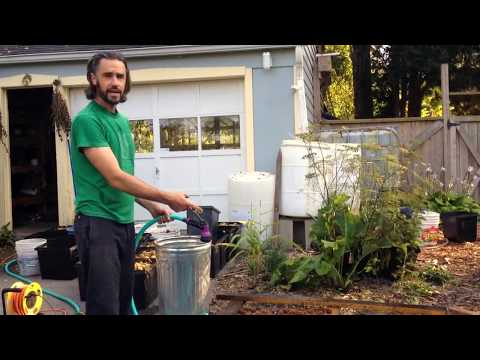 Cleaning Husks from Nuts with A Very Simple System