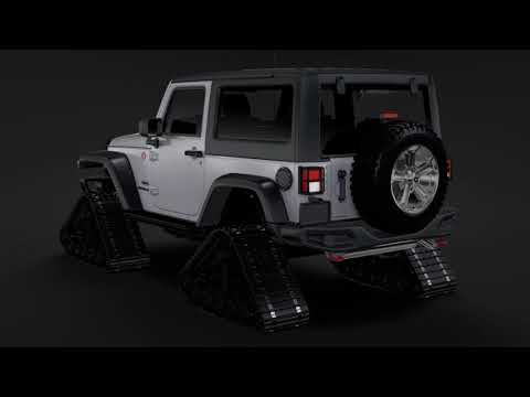 3D Model of Jeep Wrangler Crawler Rubicon Recon JK 2017
