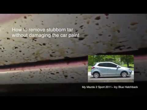 How to remove tar from your car