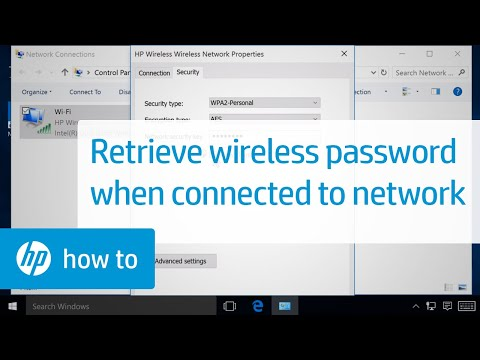 Retrieving the Wireless Password On a Computer Connected to a Wireless Network