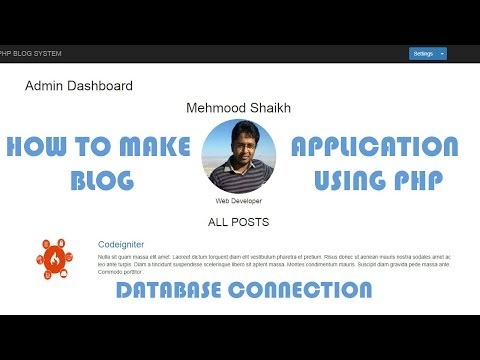PHP BLOG Application-Connect to Database Part-2