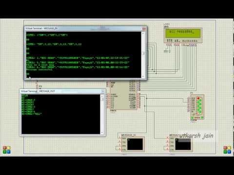 Interfacing gsm modem with proteus