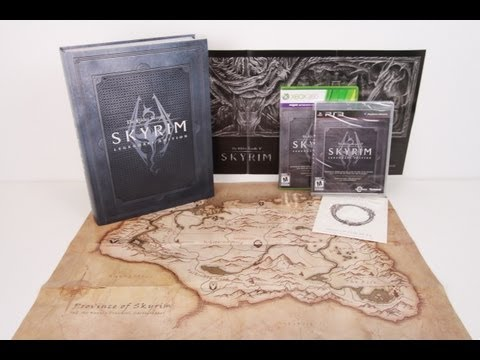 The Elder Scrolls V : Skyrim Legendary Edition Unboxing + Collectors Edition Guide (PS3/PC/360)