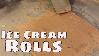 rolled ice cream - ice cream rolls - fried thailand ice cream - tawa tava ice cream ايس كريم