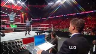 RAW Anonymous General Manager Revealed ! - RAW 9/7/2012