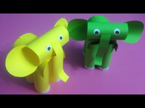 How to Make Elephant with Color Paper | DIY Paper Elephants Making