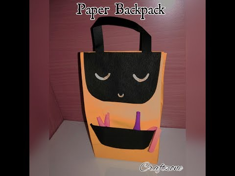 How to make Paper Backpack?