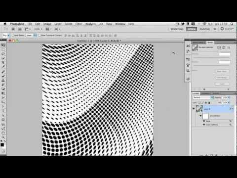 Filtros: Color Halftone e Wave no Photoshop CS5 - Parte I