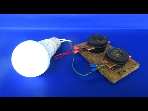 Free energy device light bulbs using magnets generator - Science project experiments at home