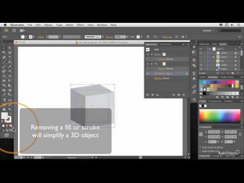 Illustrator CC 105: 3D: Create 3D Objects - 11. Mapping Art onto a Box Creating Dice