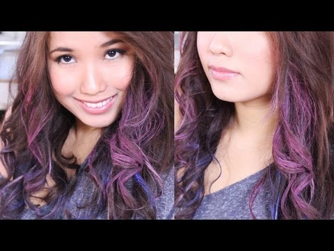 Easy Crazy Colored Curls  for dark/ light hair with Oil Pastels NO DYE