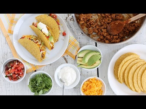 Simple Ground Turkey Tacos- Everyday Food with Sarah Carey