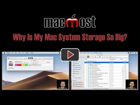 Why Is My Mac System Storage So Big? (MacMost #1808)