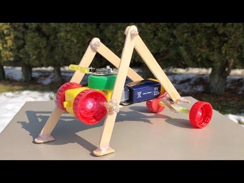 HOW TO MAKE AMAZING DIY ROBOT (Walking Robot)
