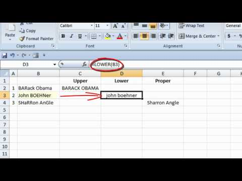 How to Change the Case of Text in Microsoft Excel