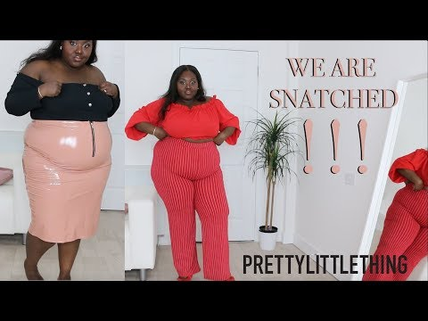 A SNAAAATCHED PRETTY LITTLE THING PLUS SIZE HAUL! YASSS!