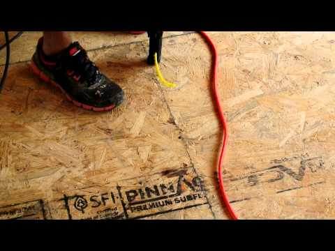 How to screw down flooring particle board in 30 seconds