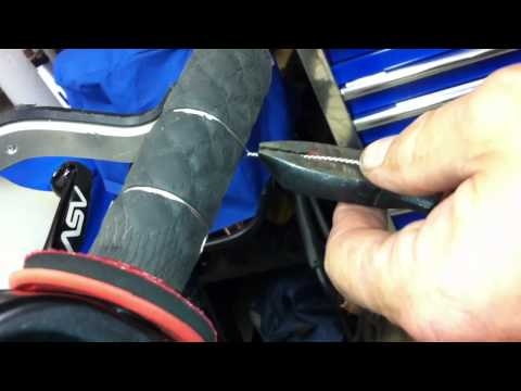 Proper way to safetywire motorcycle grips - Robert Haas