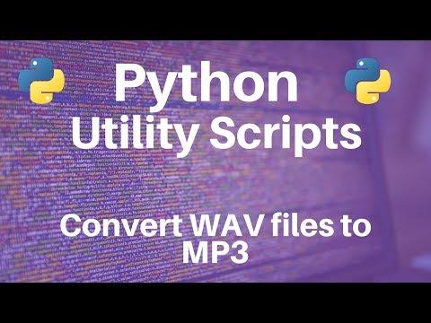 Python: Converting WAV files to MP3