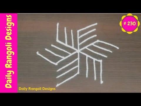 #230 ugadi special rangoli|geethala muggulu|Friday kolam designs|easy dots padi kolam|ugadi rangoli