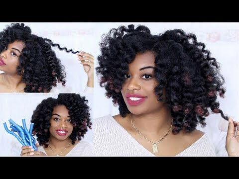 FLEXI RODS ON NATURAL HAIR | TYPE 4 HEATLESS CURLS