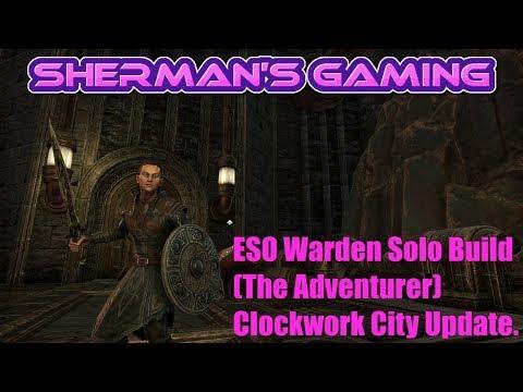 ESO Warden Solo Build (The Adventurer) Clockwork City Update.