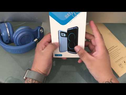 portable mobile case charger for samsung galaxy s8 plus unboxing and review