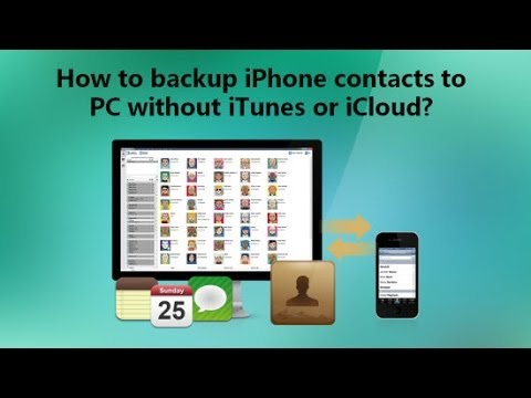 How to backup iPhone contacts to PC without iTunes or iCloud?