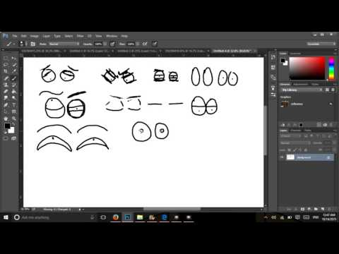 Cartoon Eyes and Expressions Photoshop Tutorial