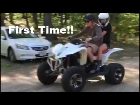 Girls First Time on a Quad!!