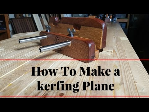 How To Make a kerfing Plane - Rebate Saw