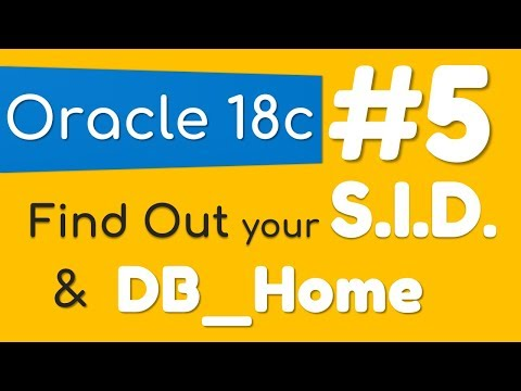 How to find out the SID and DB Home in Oracle Database by Manish Sharma