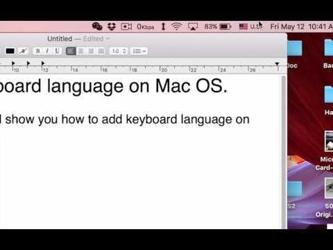 How to add keyboard language on Mac OS