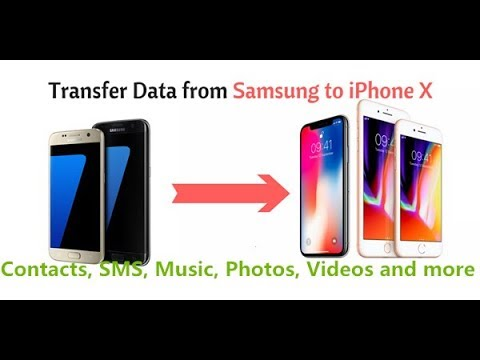 Transfer Data Contacts from Android Samsung to iPhone X/8/7/6S/6 (Plus)
