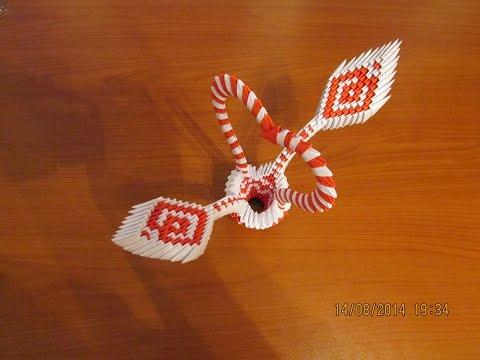 3D Origami Heart Basket Tutorial #2