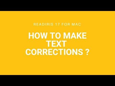 Readiris 17 Mac: Text correction