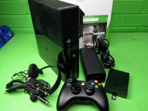 40435 - Microsoft Xbox 360 Black 250GB Console.HEADSET/MIC Tomb Raider Download WARRANTY