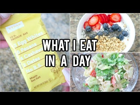 WHAT I EAT IN A DAY TO LOSE WEIGHT! Healthy, Easy, and Simple! 2017