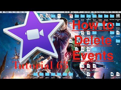 Delete Events in iMovie 10.0.6   Tutorial 63