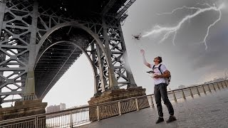 DRONE IN A LIGHTNING STORM