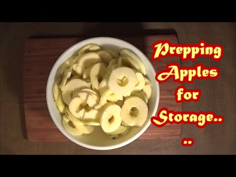 Prepping Apples for Storage
