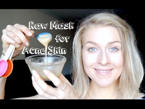 Raw Face Mask for Acne: Honey, ACV, Baking Soda & Glowing Skin