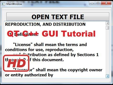 [Qt C++ Tutorial for beginners] QT C++ GUI Tutorial 27- How to read text file and display file to a