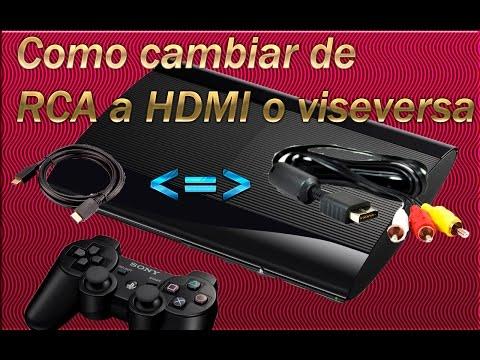 Cambiar de RCA (av) a HDMI o viceversa PS3