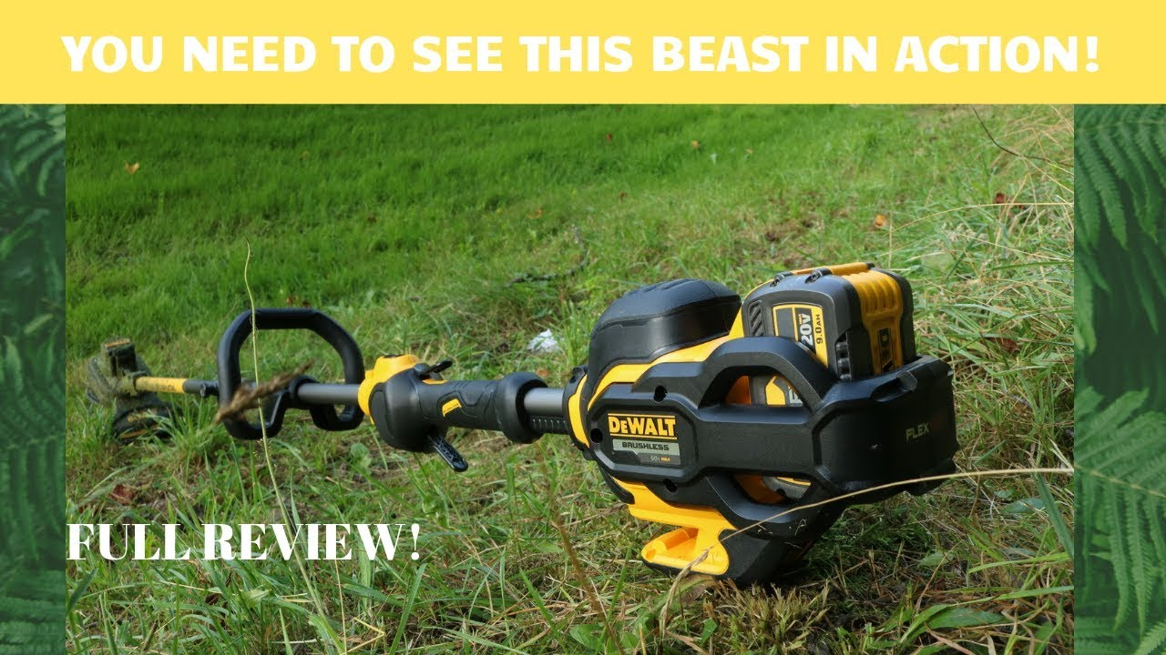 Don't buy a string trimmer until you see this! The Dewalt 60v string trimmer is simply AMAZING