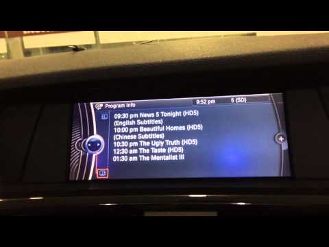 Original Mobile TV: Digital And Analog Channels in BMW X3 F